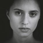 Aleksandra Podrucka model portrait B&W