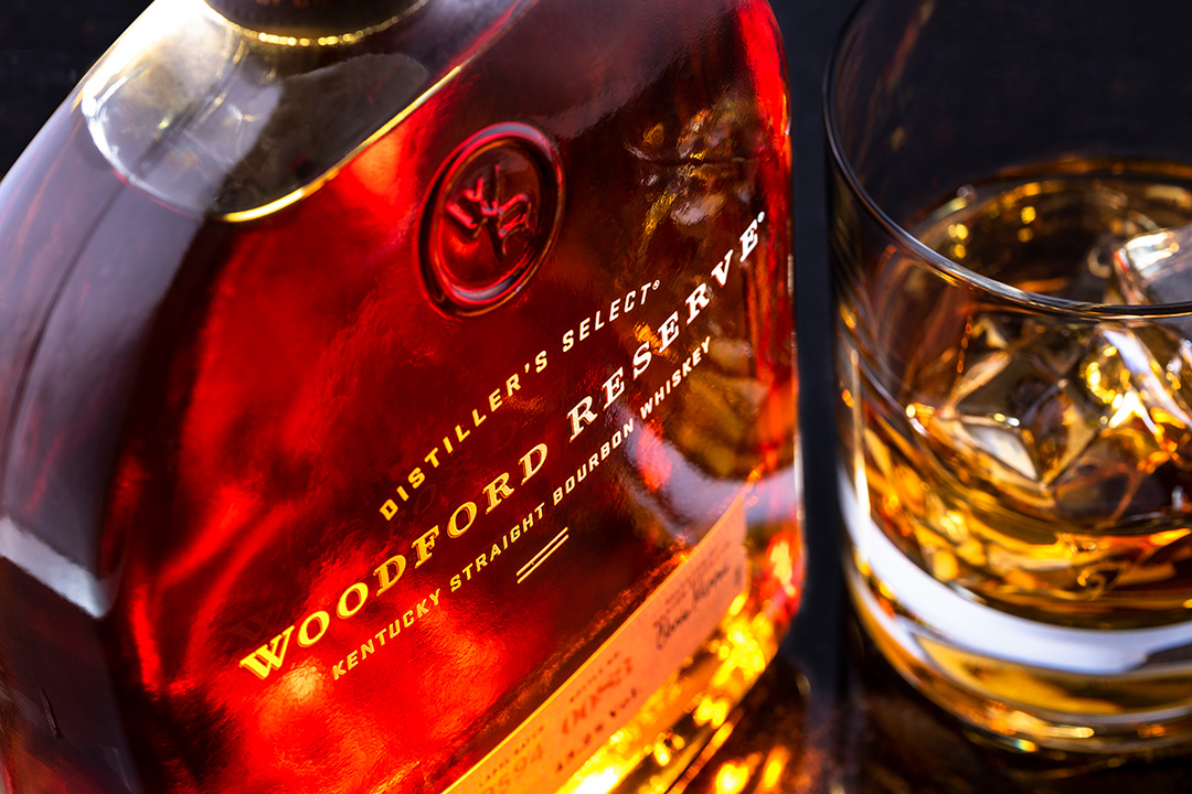 Product Photographer Nottingham Woodford Reserve Whiskey Bottle